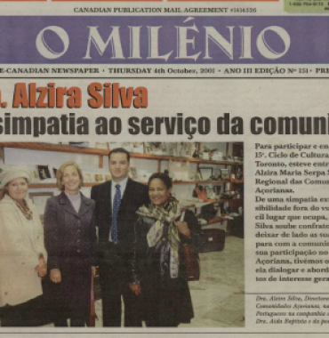 O MILENIO: 2001/10/04 Issue 151