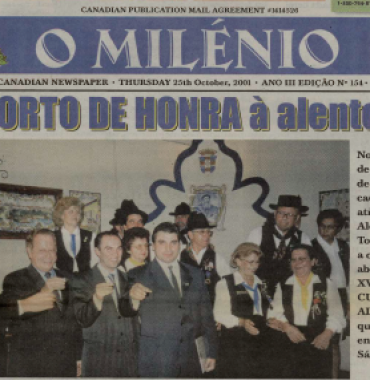 O MILENIO: 2001/10/25 Issue 154