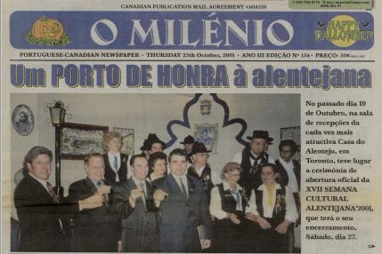O MILENIO: 2001/10/25 Issue 154