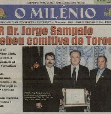 O MILENIO: 2001/11/01 Issue 155