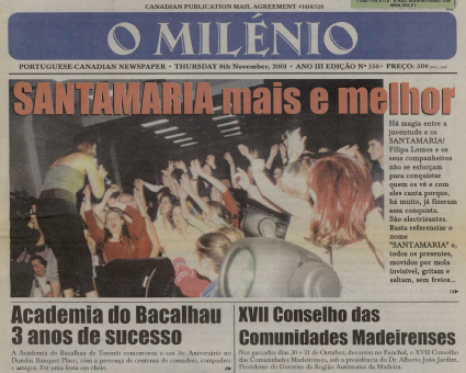 O MILENIO: 2001/11/08 Issue 156