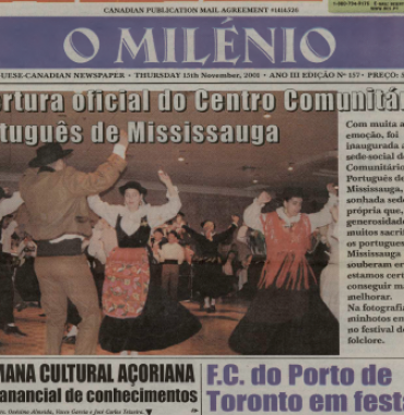 O MILENIO: 2001/11/15 Issue 157