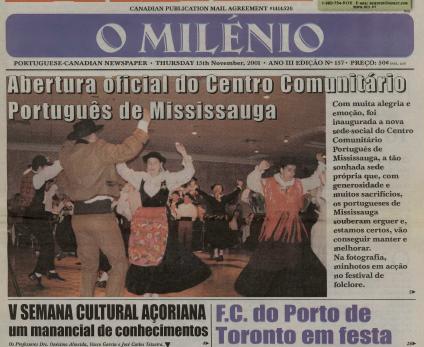 O MILENIO: 2001/11/15 Issue 157