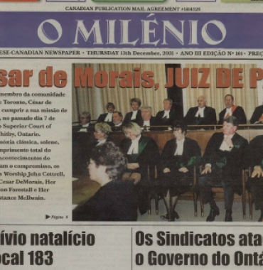 O MILENIO: 2001/12/13 Issue 161