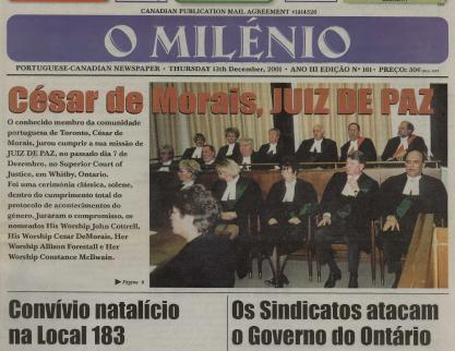 O MILENIO: 2001/12/13 Issue 161