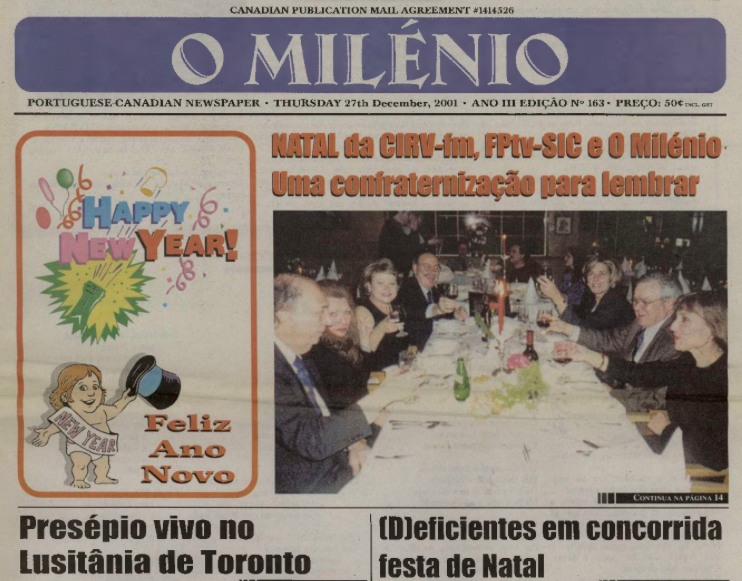 O MILENIO: 2001/12/27 Issue 163