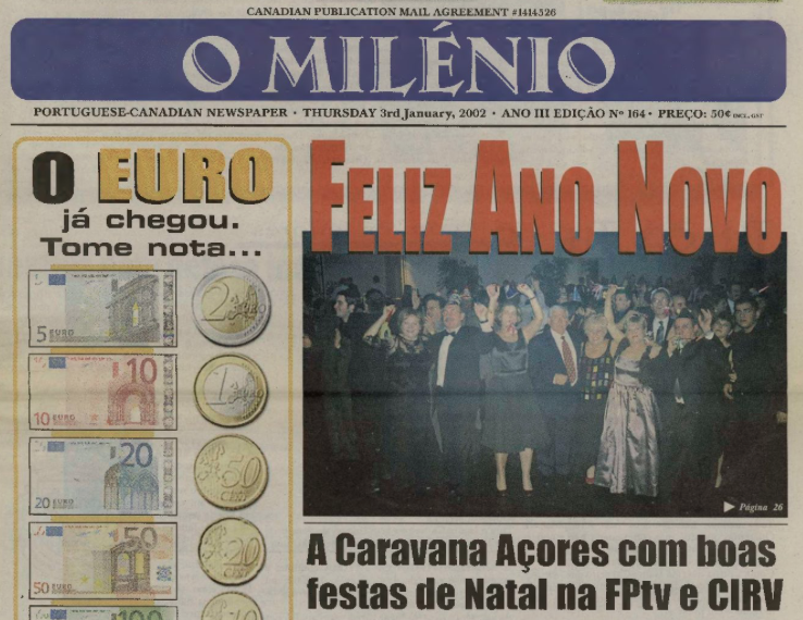 O MILENIO: 2002/01/03 Issue 164