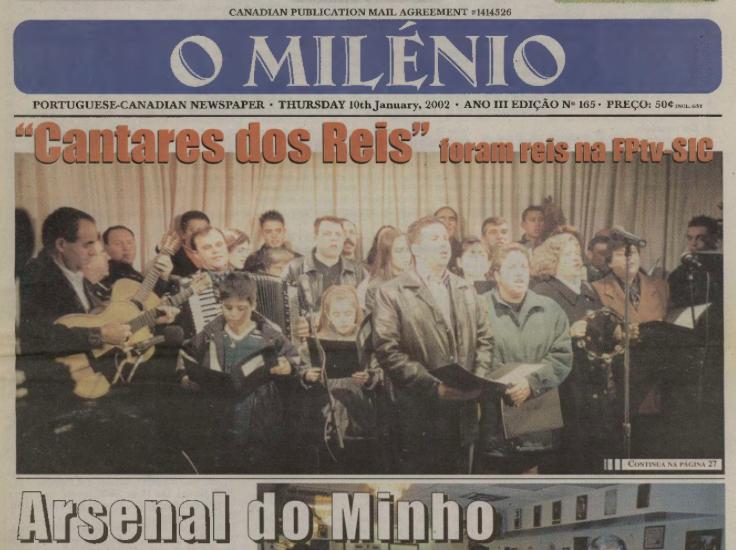 O MILENIO: 2002/01/10 Issue 165