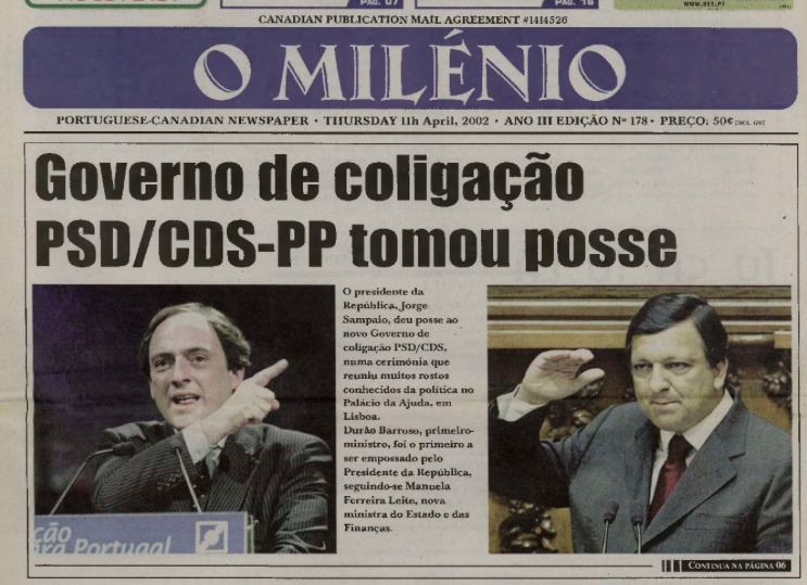 O MILENIO: 2002/04/11 Issue 178