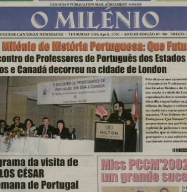 O MILENIO: 2002/04/25 Issue 180