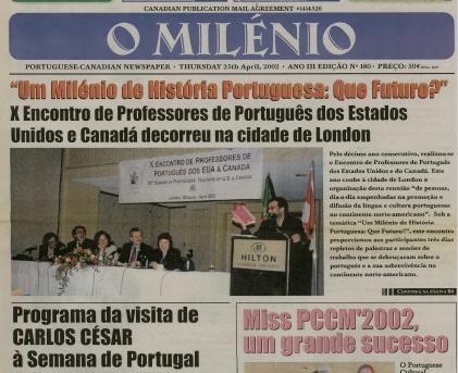 O MILENIO: 2002/04/25 Issue 180