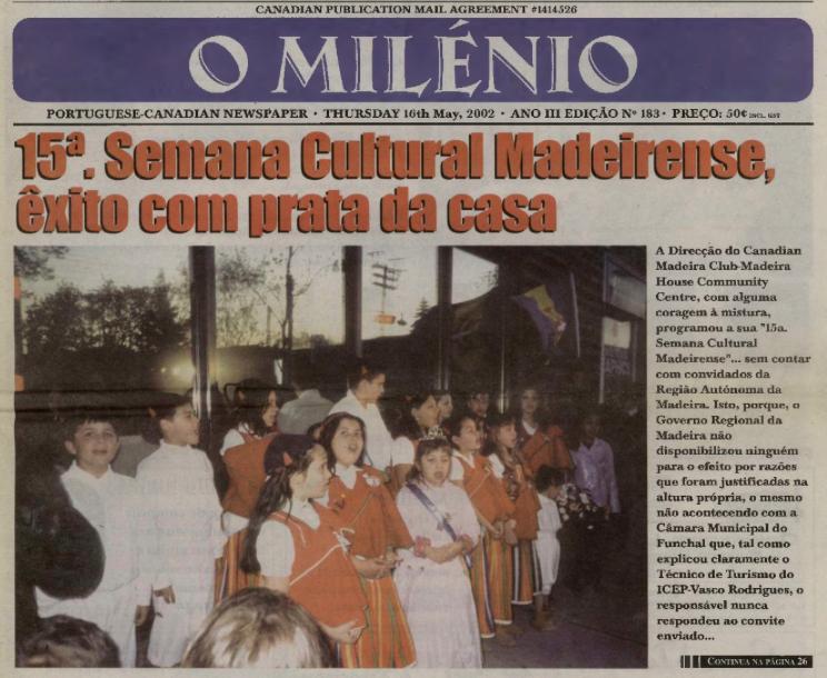 O MILENIO: 2002/05/16 Issue 183