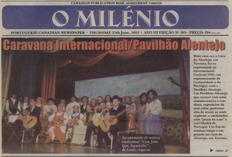 O MILENIO: 2002/06/27 Issue 189