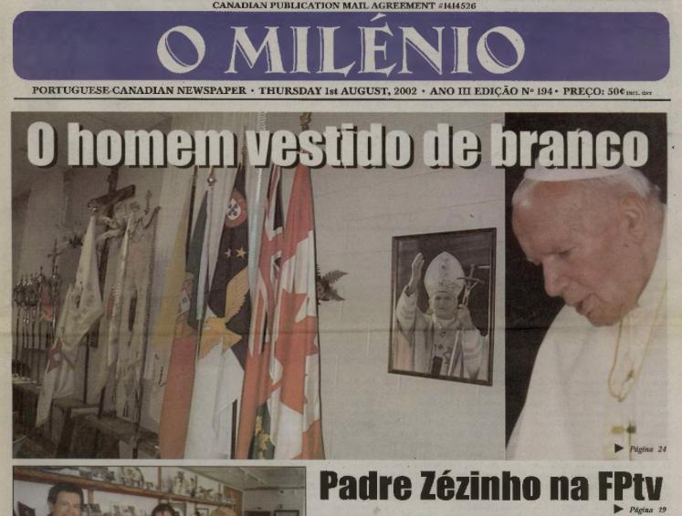 O MILENIO: 2002/08/01 Issue 194