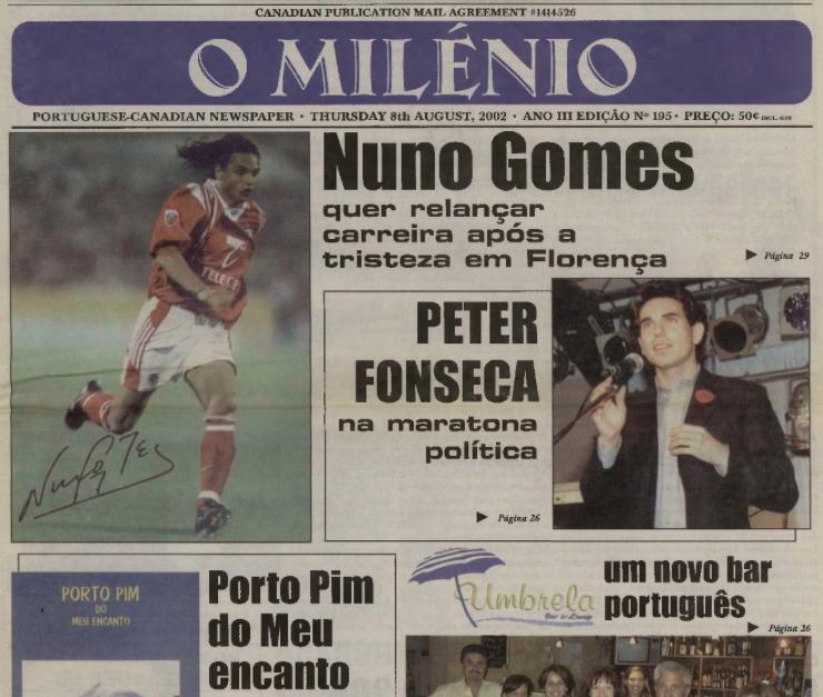 O MILENIO: 2002/08/08 Issue 195