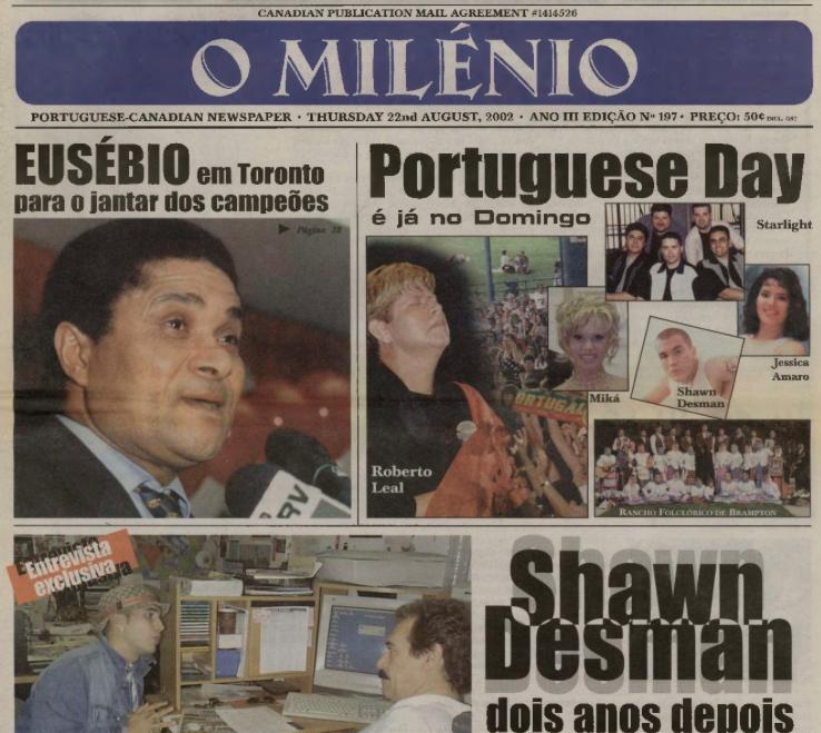 O MILENIO: 2002/08/22 Issue 197