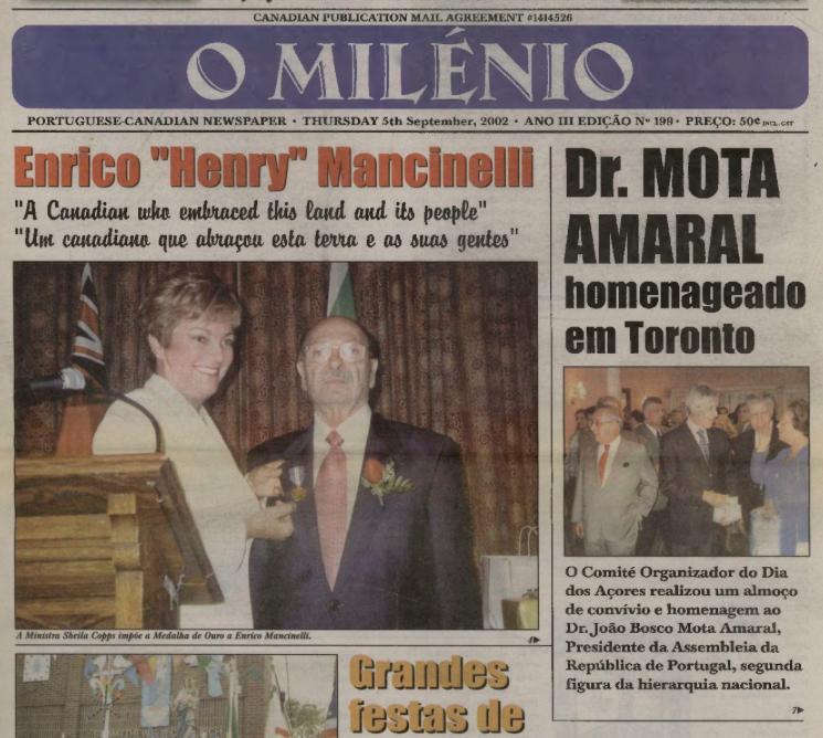O MILENIO: 2002/09/05 Issue 199