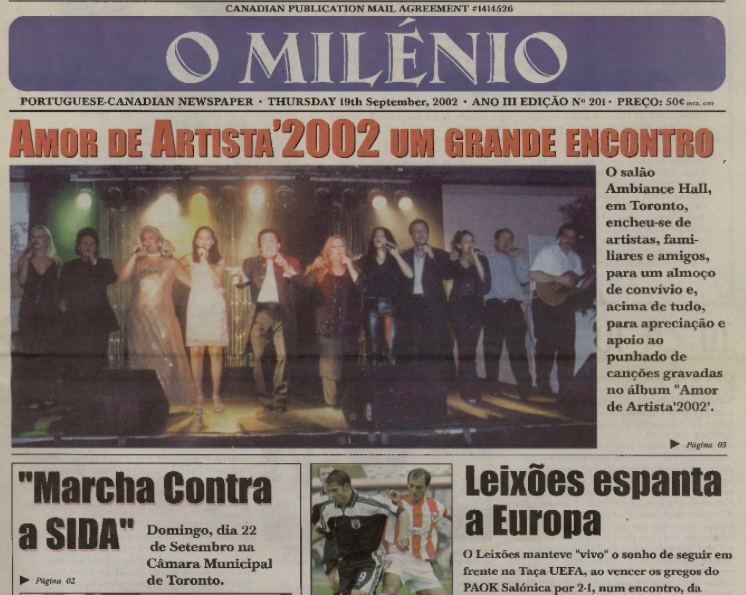 O MILENIO: 2002/09/19 Issue 201