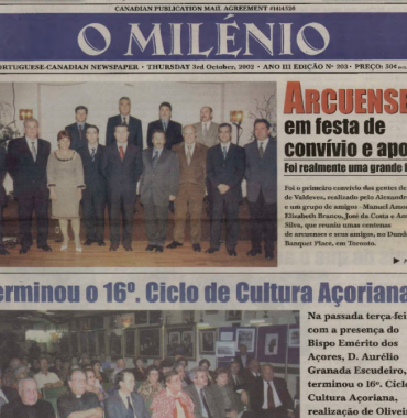 O MILENIO: 2002/10/03 Issue 203