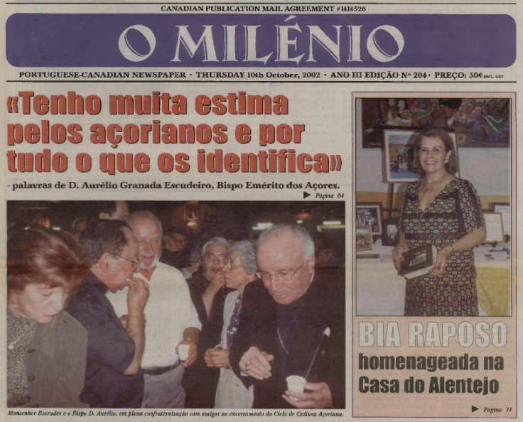 O MILENIO: 2002/10/10 Issue 204