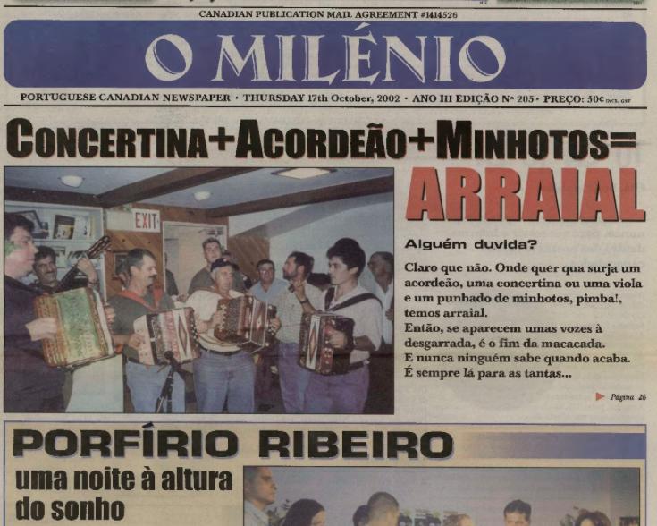 O MILENIO: 2002/10/17 Issue 205