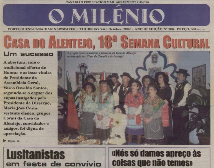 O MILENIO: 2002/10/24 Issue 206