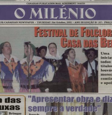 O MILENIO: 2002/10/31 Issue 207