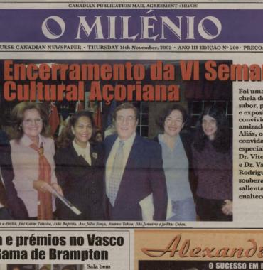 O MILENIO: 2002/11/14 Issue 209