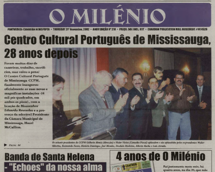 O MILENIO: 2002/11/21 Issue 210