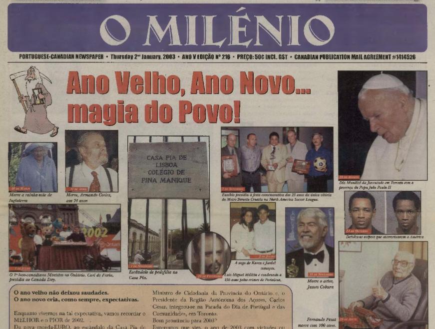 O MILENIO: 2003/01/02 Issue 216