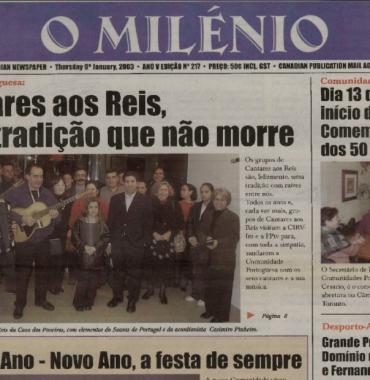 O MILENIO: 2003/01/09 Issue 217