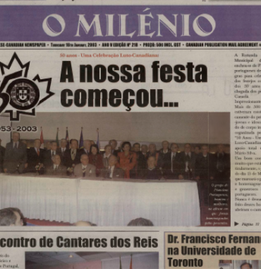 O MILENIO: 2003/01/16 Issue 218