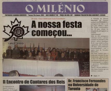 O MILENIO: 2003/01/16 Issue 218