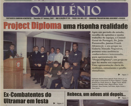 O MILENIO: 2003/01/23 Issue 219