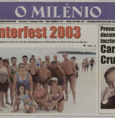 O MILENIO: 2003/02/06 Issue 221