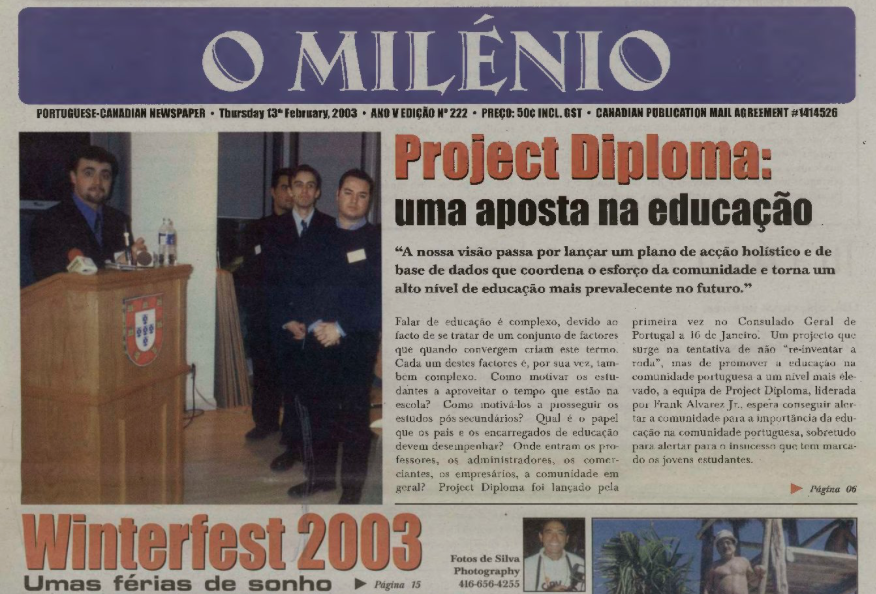O MILENIO: 2003/02/13 Issue 222
