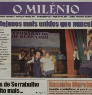 O MILENIO: 2003/02/27 Issue 224