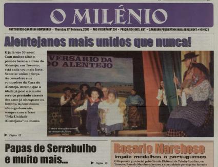 O MILENIO: 2003/02/27 Issue 224
