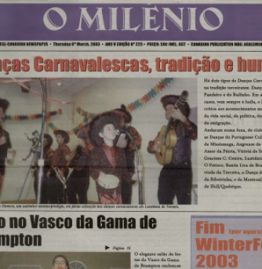 O MILENIO: 2003/03/06 Issue 225