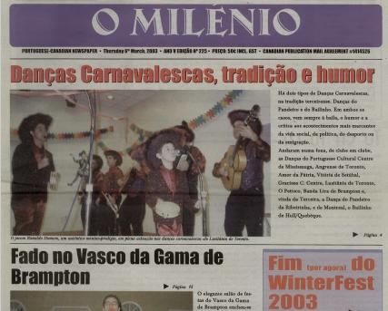 O MILENIO: 2003/03/06 Issue 225