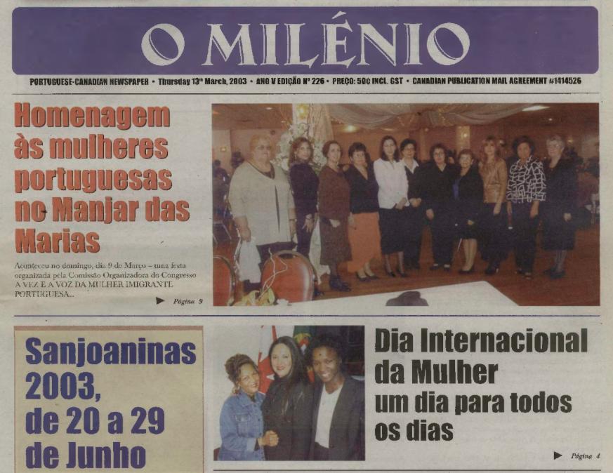 O MILENIO: 2003/03/13 Issue 226