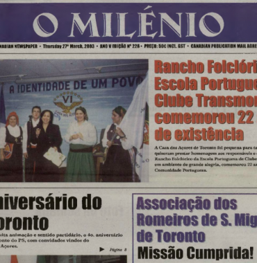O MILENIO: 2003/03/27 Issue 228