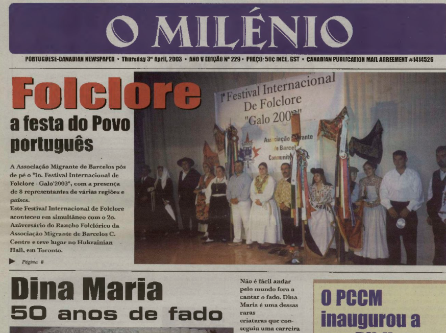 O MILENIO: 2003/04/03 Issue 229