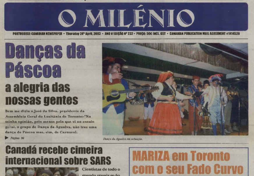 O MILENIO: 2003/04/24 Issue 232