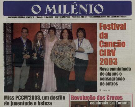 O MILENIO: 2003/05/01 Issue 233