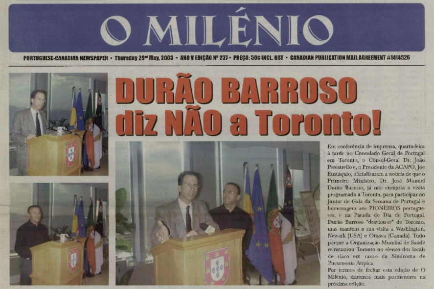 O MILENIO: 2003/05/29 Issue 237