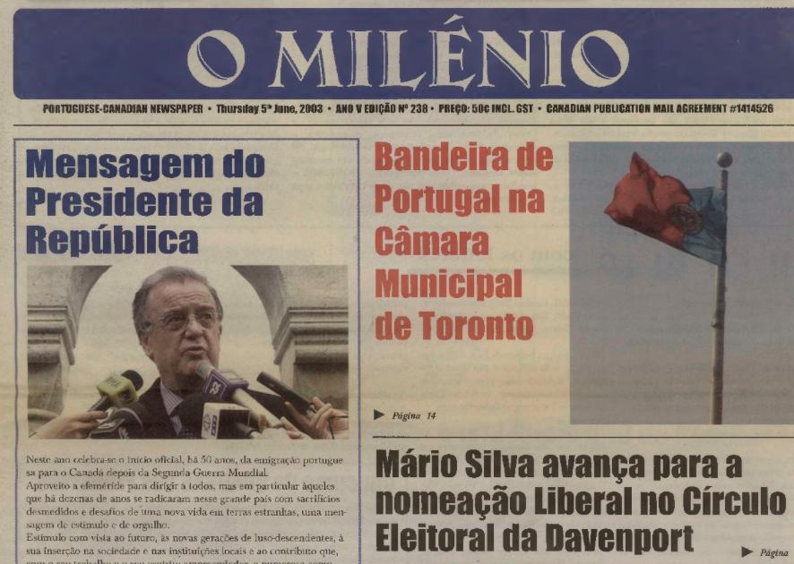 O MILENIO: 2003/06/05 Issue 238