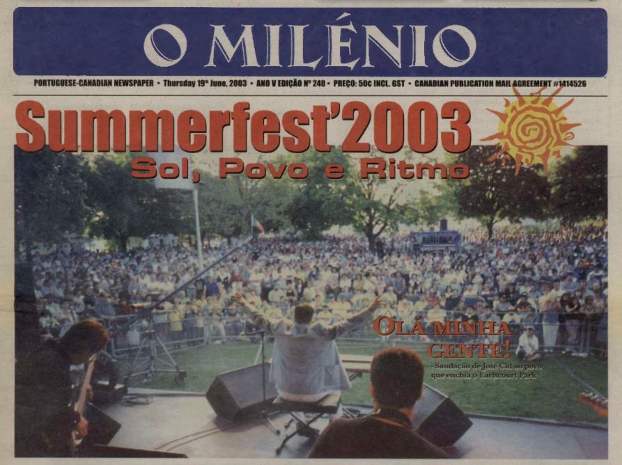 O MILENIO: 2003/06/19 Issue 240