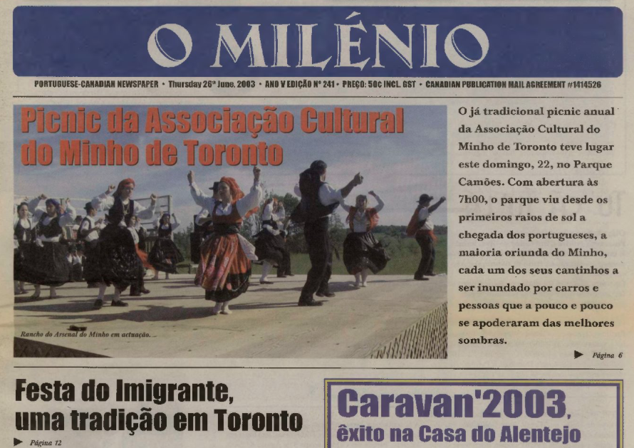 O MILENIO: 2003/06/26 Issue 241
