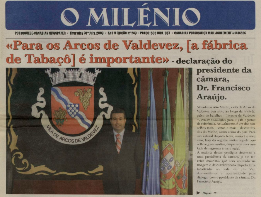 O MILENIO: 2003/07/31 Issue 243